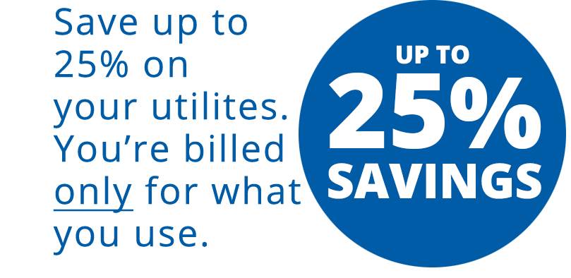 Up to 25 Percent Savings in Utilities