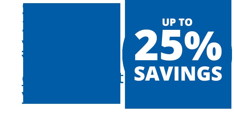 Up to 25 Percent Savings in Utilities